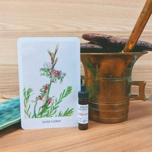 Photo of Gaura Flower essence card and bottle