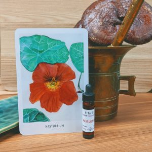 Photo of Nasturium essence card and bottle