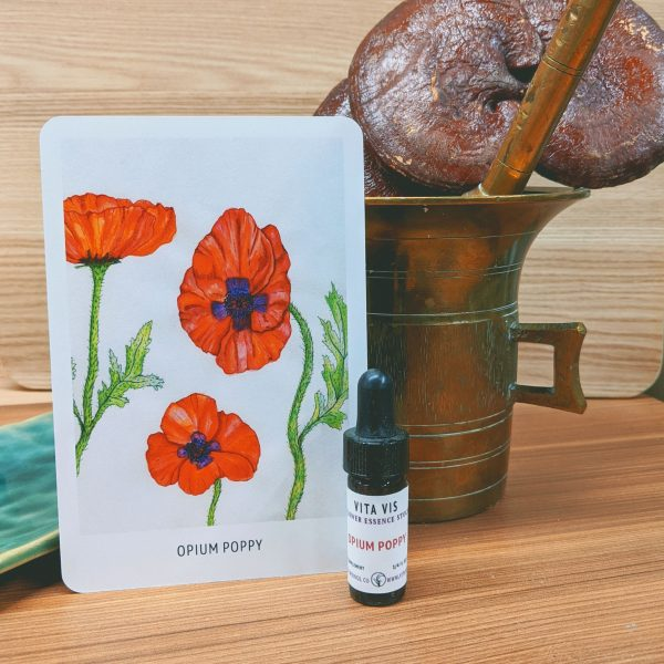 Photo of Opium Poppy essence card and bottle