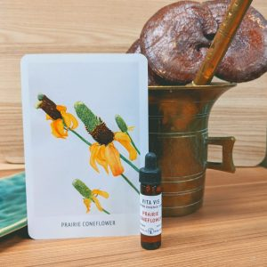 Photo of Prairie Coneflower essence card and bottle